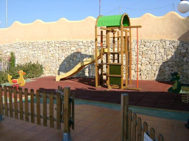 play area in the communal pool