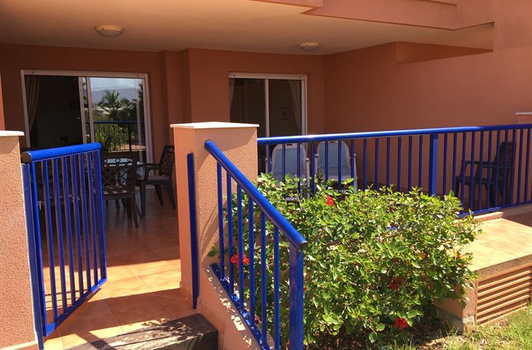 Terrace with direct access to swimming pool area