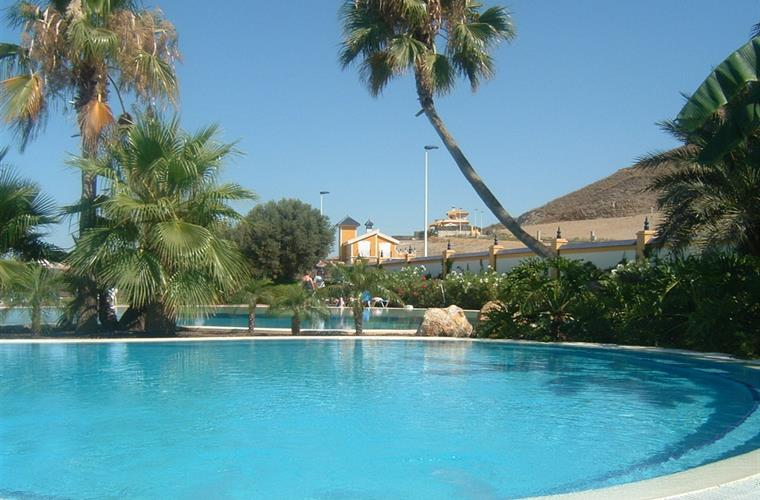 Communal pool of the Mazarron Country Club.
