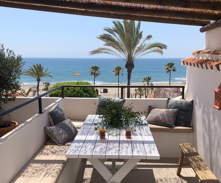 Terrace with view to beach and sea San Roque Estepona