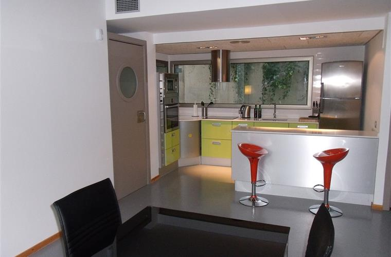 Kitchen with open plan dining area