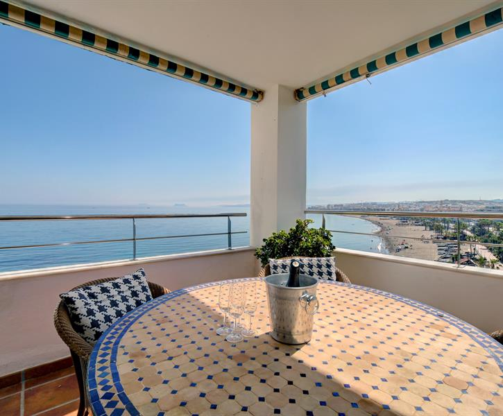 View from terrace Jacaranda 401 Estepona Malaga