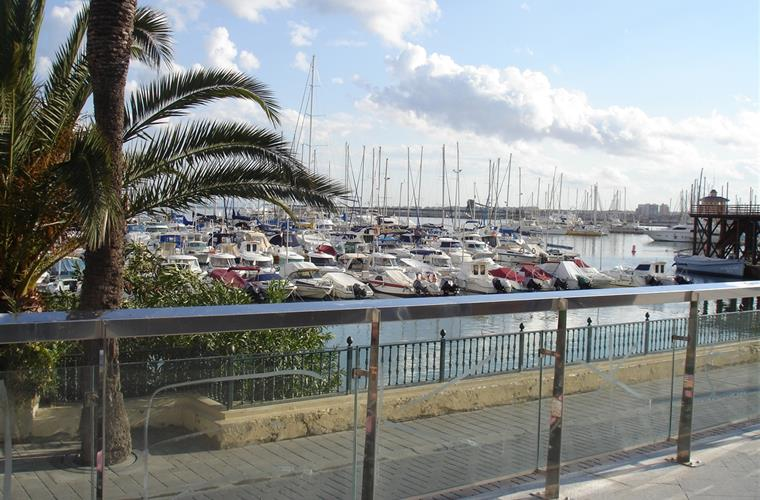 Marina in town of Torrevieja