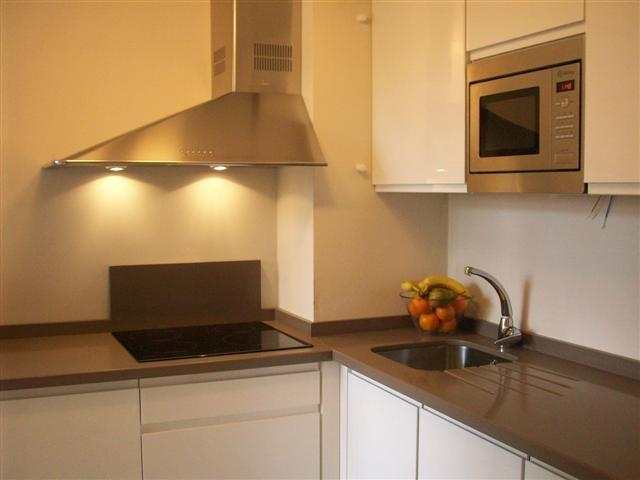 high-gloss paint kitchen