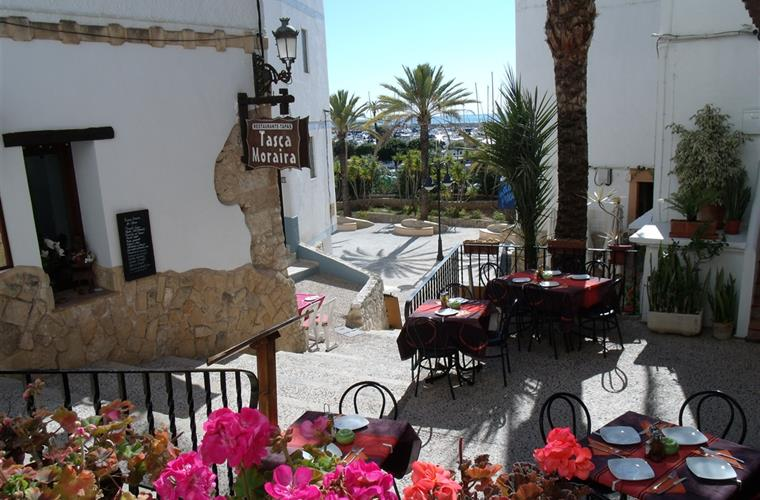 Romantic restaurant in Moraira's 'Old Town'