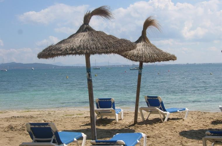 the beach of puerto pollensa