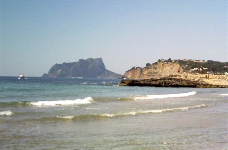 The famous rock, Ifach from Moraira Beach, 4km from Casa Karin