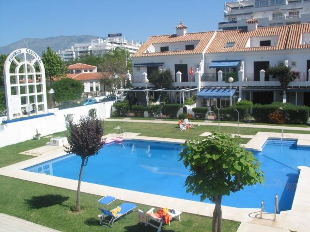 View from 1st floor terrace to the large pool