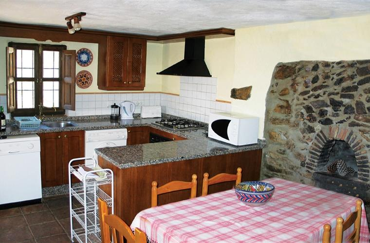 The well-equipped kitchen with original bread oven