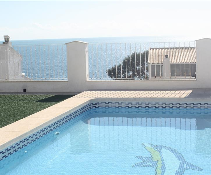 rooftop swimming pool with sea view