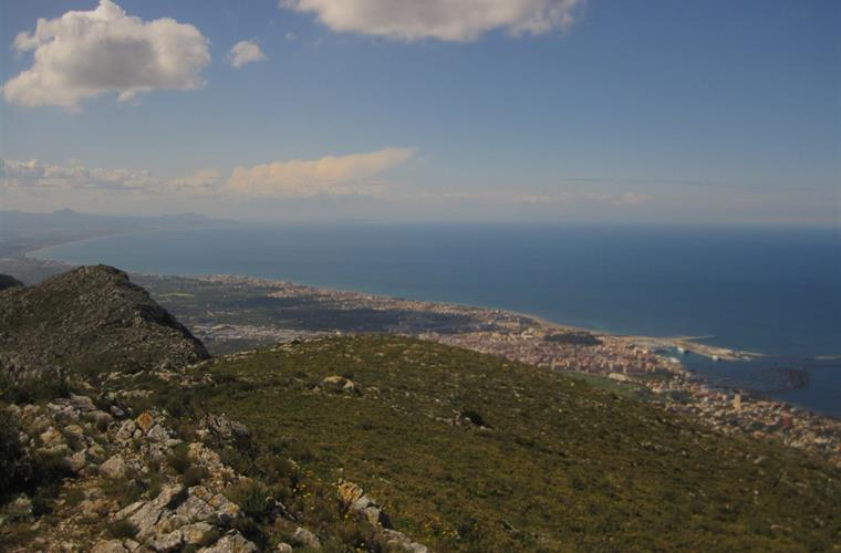 General view of Denia from the mountain Montgó