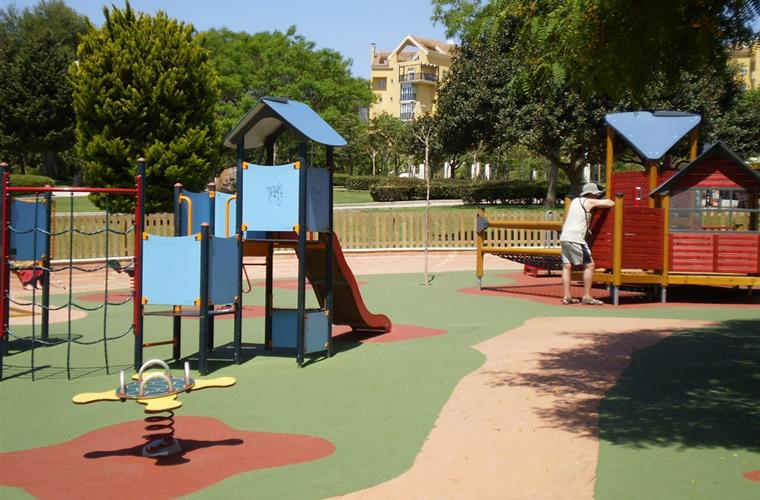 PLAYGROUND FOR THE SMALL CHILDREN IN THE PALOMA PARK