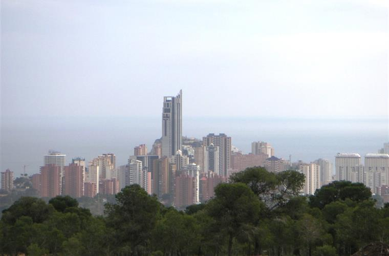 view on skyline Benidorm and sea