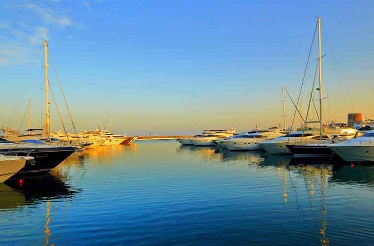 Sunset in Puerto Banus
