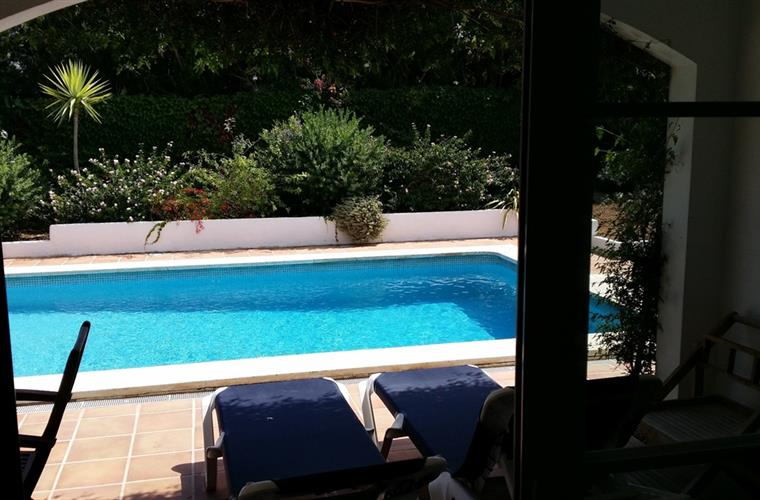 view on private swimming pool