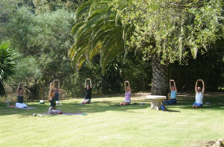 yoga retreat at Hacienda Acedía