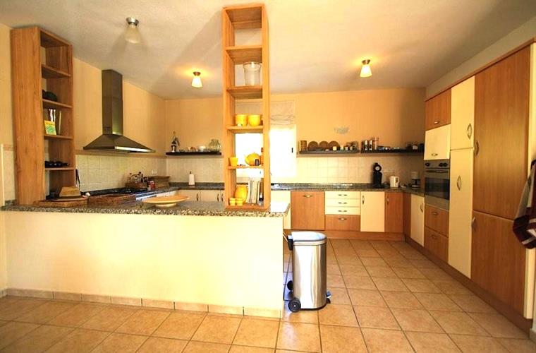 Our fully equipped kitchen with dishwasher, fridge, 2 microwaves..
