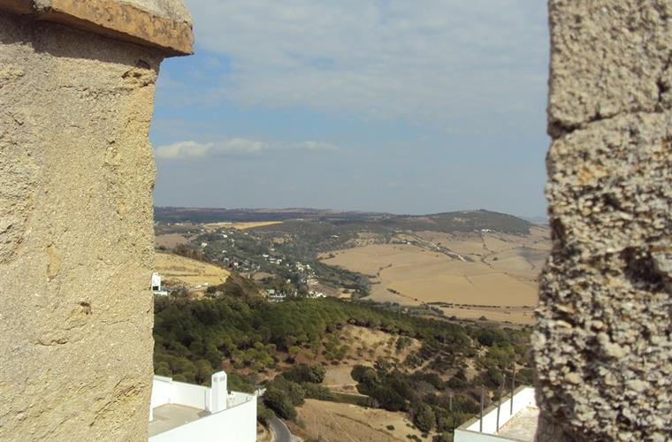 view from the wall of Vejer